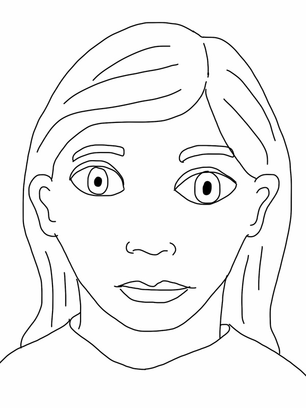 Line Drawing Face Earrings : Self portrait on the ipad dryden art