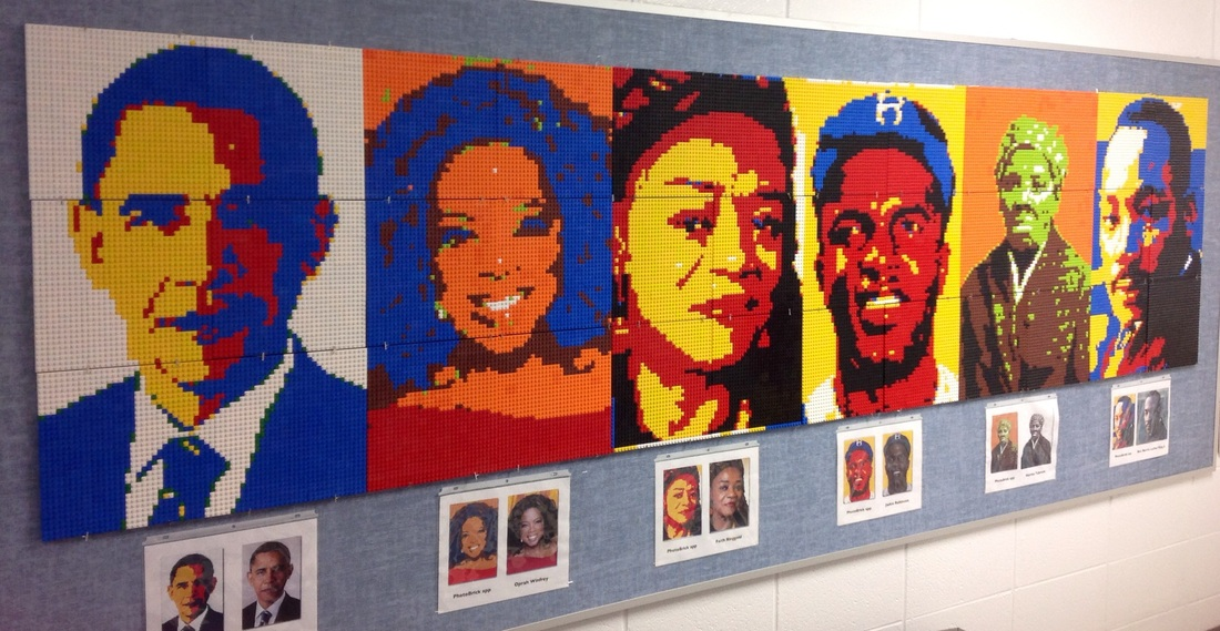 How to organize a lego mural dryden art for Black history mural