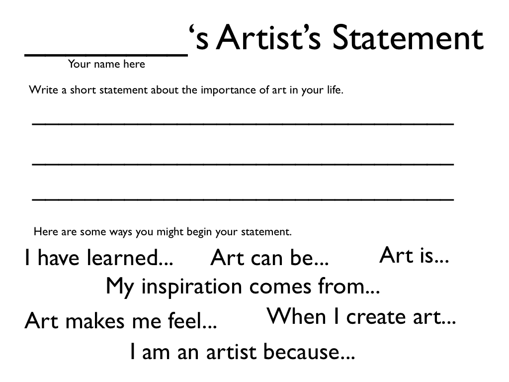 How to Write an Artist Statement and Why It's So Important