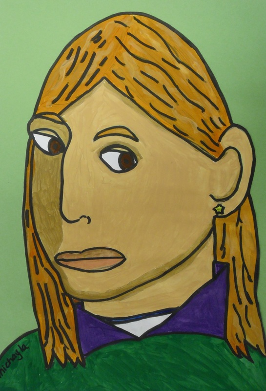 Self Portraits In 3 4 Pose By 5th Grade Dryden Art