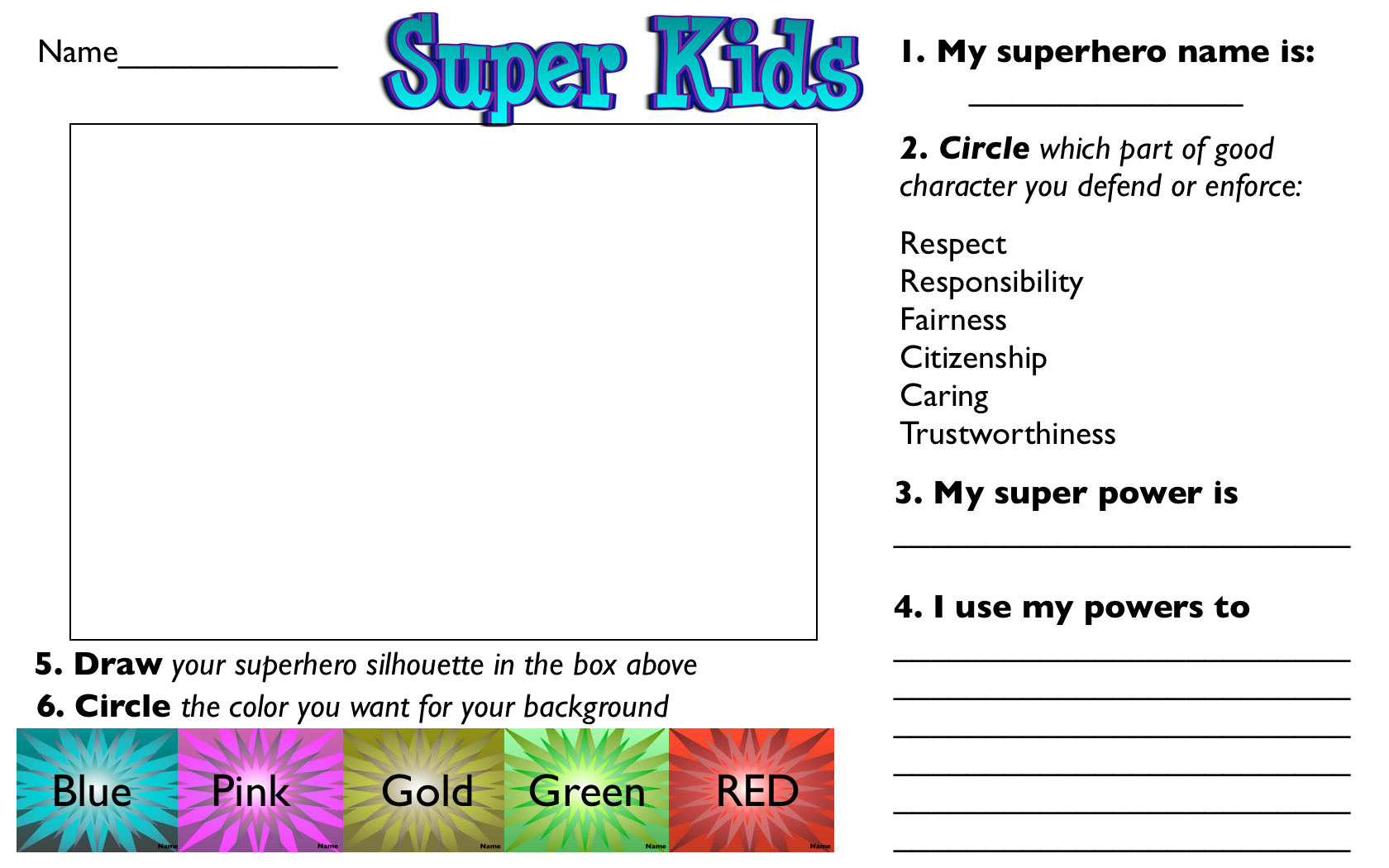 Worksheets Six Pillars Of Character Worksheets character counts worksheets free library download and six pillars of 6 pinterest